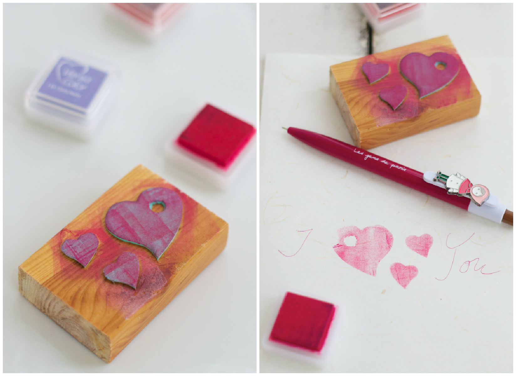 my first handcrafted stamp - a heart